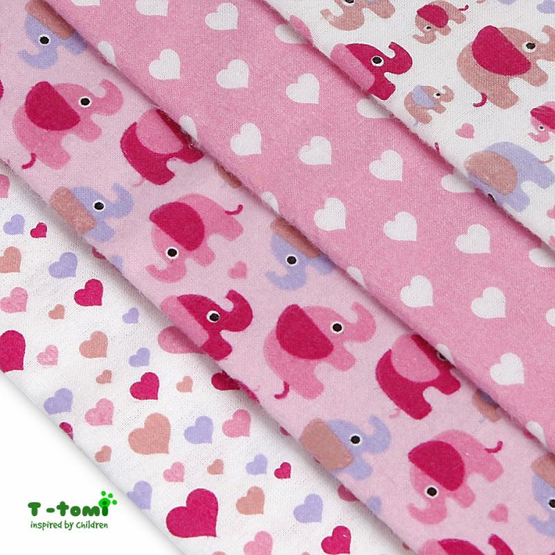 8b7efdf8fe0de E-MAMA   T-tomi Bavlnené plienky s flanelovou úpravou Ružové slony