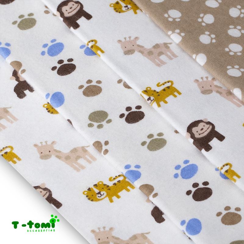 49286ac056da1 E-MAMA   T-tomi Bavlnené plienky s flanelovou úpravou Hnedé opice