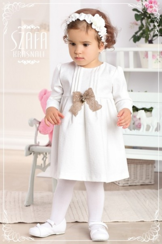 5af23dc70d46 Krasnal B003 Slávnostné dievčenské šaty so svetríkom a čiapočkou